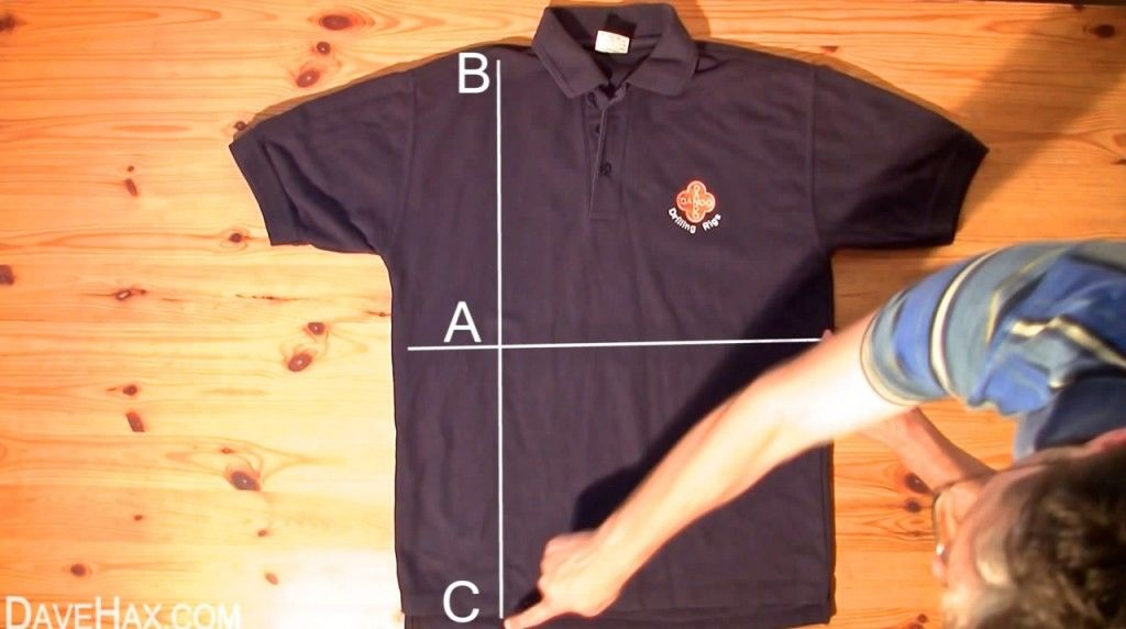 シャツたたみ方3