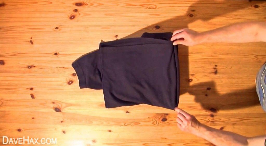 シャツたたみ方6