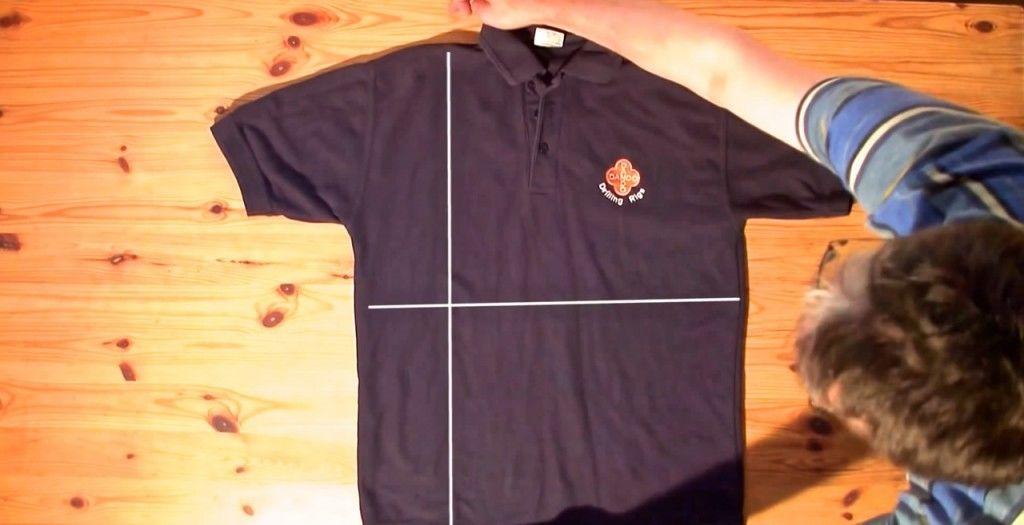 シャツたたみ方2