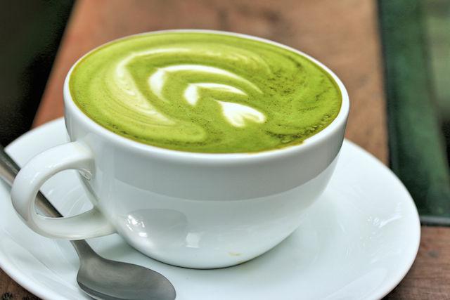 緑茶ラテ。