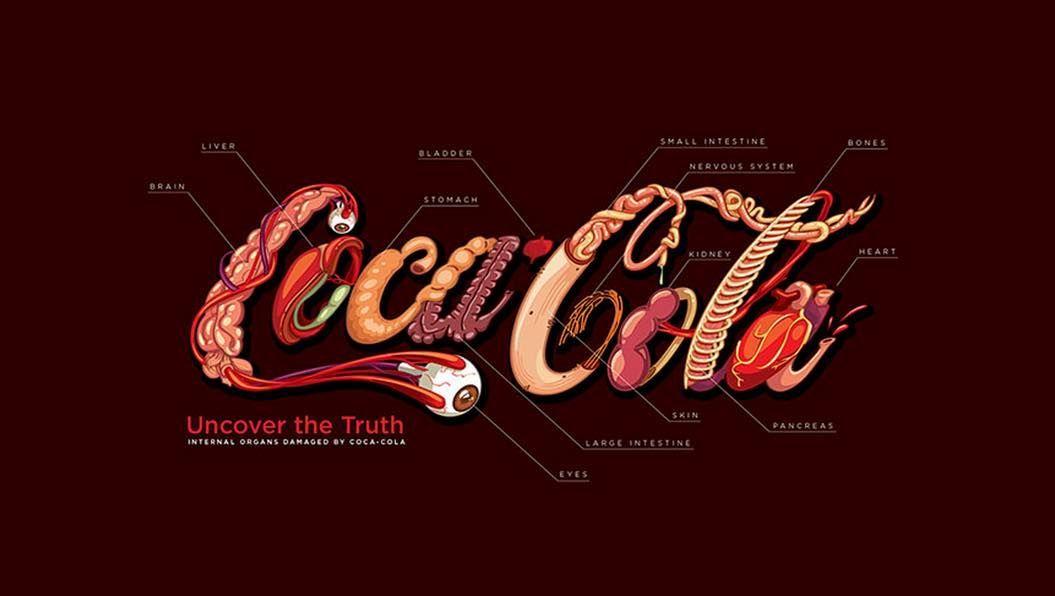 コーラを愛するデザイナーが「飲み過ぎないため」に作ったロゴ