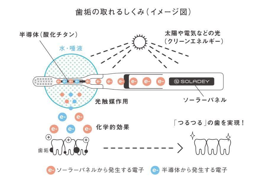 歯垢の取れるしくみ(イメージ図)
