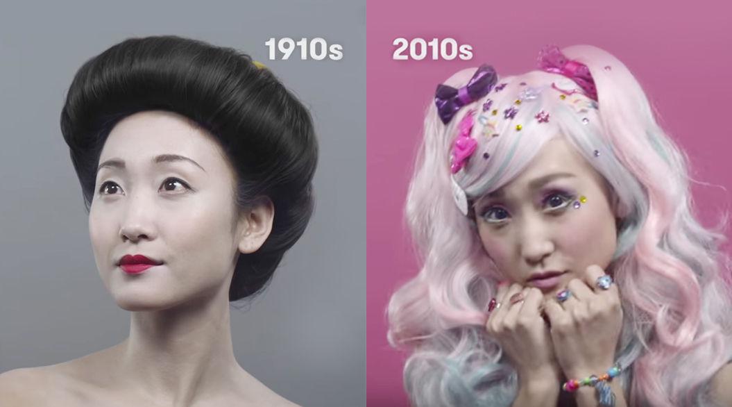 動画で振り返る「日本の美女」の100年間