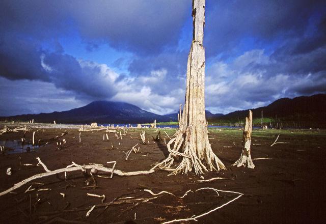 Foreste tagliate c/o Lago e vulcano Arenal, Costa Rica