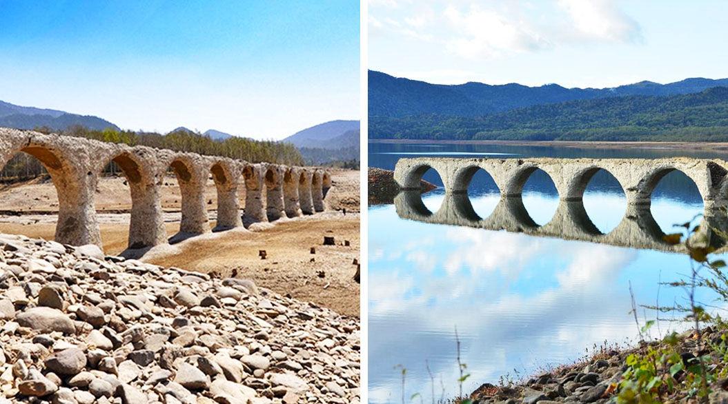 訪れるたびに印象が変わる! 北海道の「タウシュベツ橋梁」が神秘的すぎ