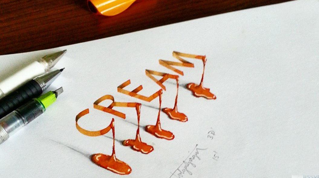 紙から文字が飛びでてくる!?トルコのグラフィックデザイナーが描く「3Dカリグラフィー」