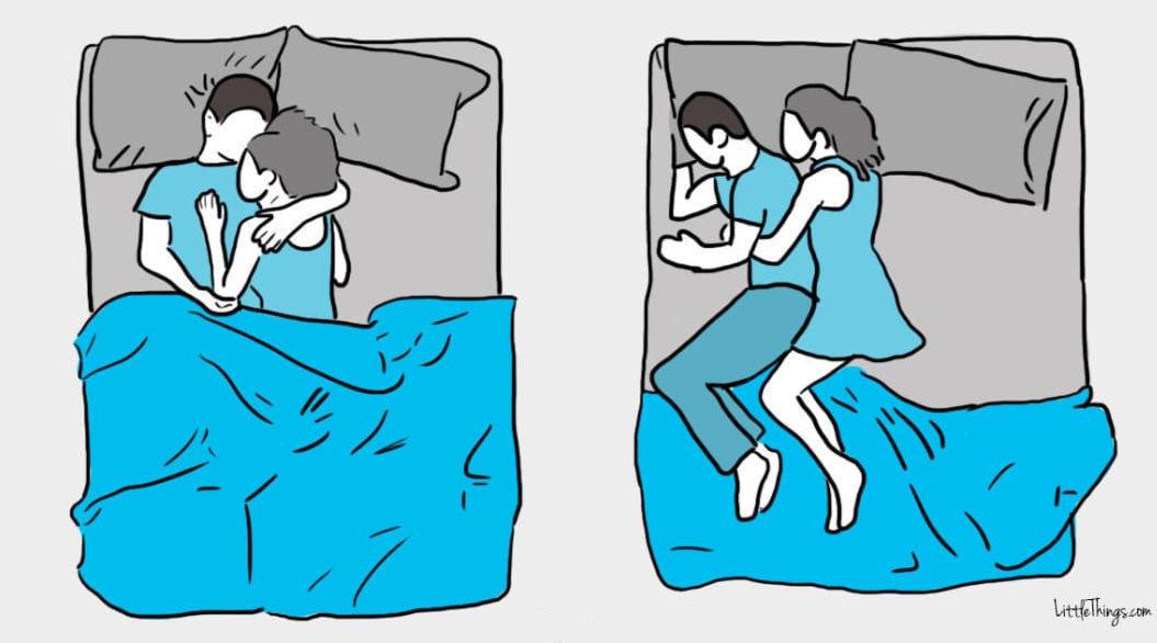 カップルのための「寝相診断10選」。足を絡ませて寝るタイプは・・・