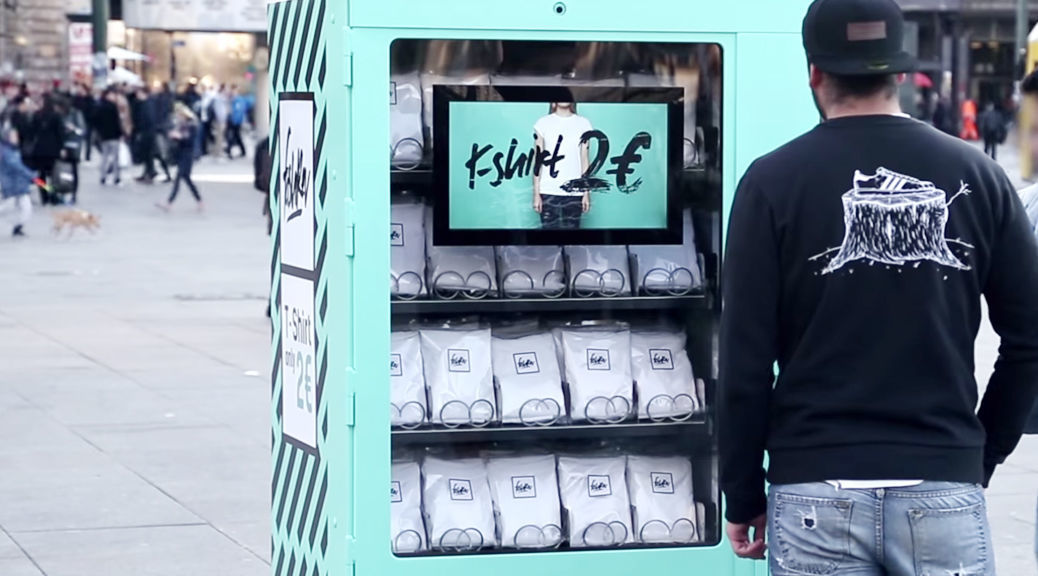 「270円のTシャツ」の自動販売機がベルリンに登場!ただし、購入にはある条件が・・・ | TABI LABO