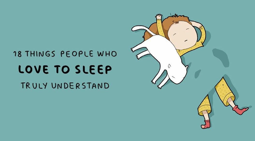 三度の飯より寝るのが好き睡眠への愛を描いた18枚のイラストに