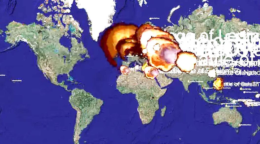 爆発で見る人類1,000年分の「戦火」。5分間に集約された記録動画 | TABI LABO