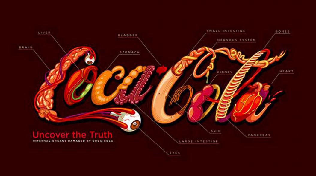 コーラを愛するデザイナーが「飲み過ぎないため」に作ったロゴ | TABI LABO