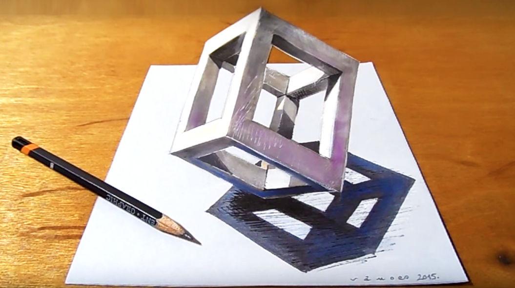 紙から飛び出すキューブの描き方教えます動画あり Tabi Labo