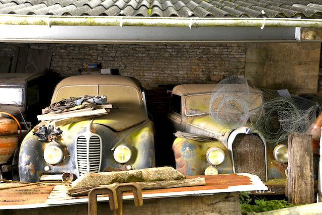 3 Delahaye GFA 148 L et Talbot Lago Baby cabriolet par Guillore, Collection Baillon - © Artcurial