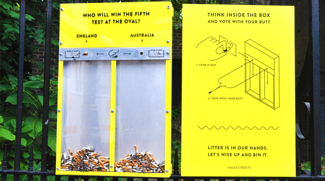 タバコのポイ捨てを、劇的に減らした「看板」。その斬新すぎる仕掛けとは?