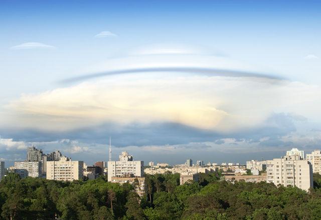 UFO over a city