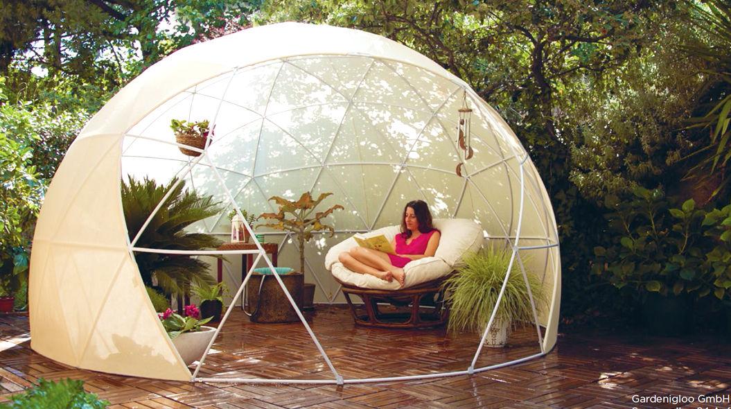 透明の「ドーム型テント」。お洒落なだけじゃなくて、環境にもよかった