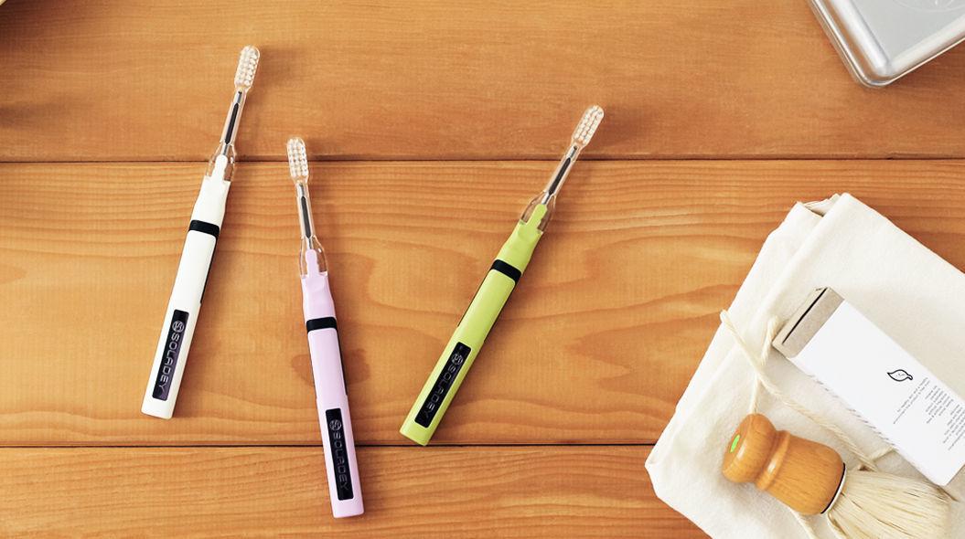 光と水だけで、歯垢をごっそり落とす歯ブラシ「SOLADEY N4」