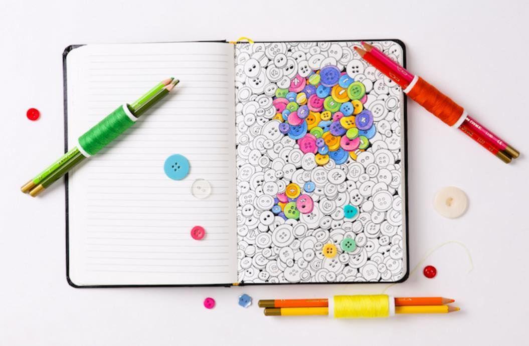 ストレス発散大人のために作られた塗り絵ノート Tabi Labo