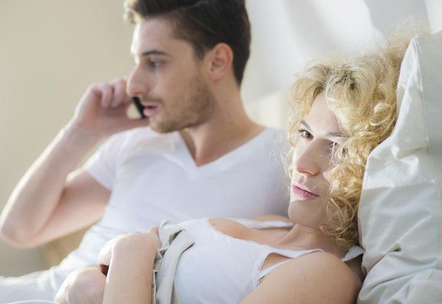 Displeased Phone Call In Bedroom