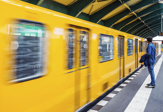 Berlin, Germany - June 27, 2015: Schonhauser Allee Platform of t