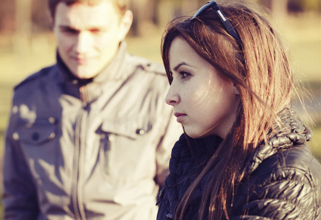 conflict and emotional stress in young couple